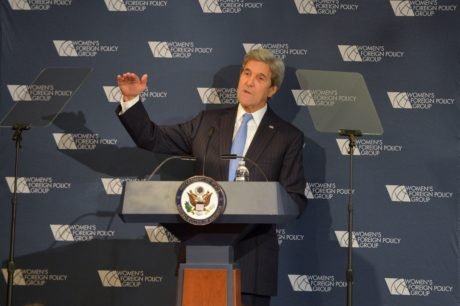 U.S. Secretary of State John Kerry delivers remarks at the Women's Foreign Policy Group Conference in Washington, D.C., Nov. 29, 2016. (State Department)