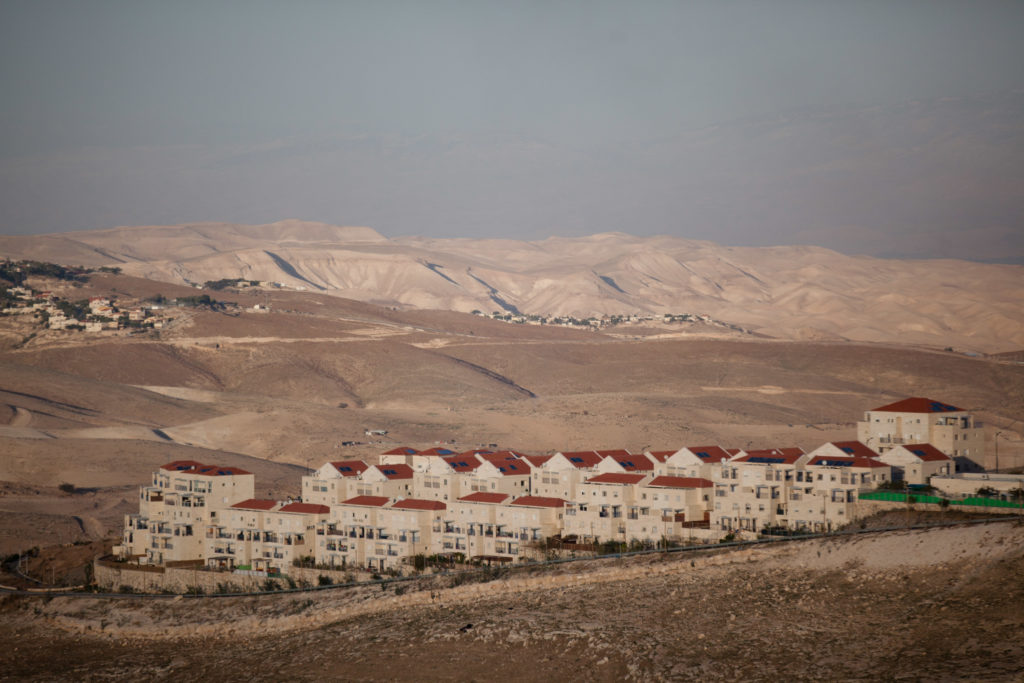 A view of a portion of the West Bank settlement of Maale Adumim. (Uriel Sinai/Getty Images)