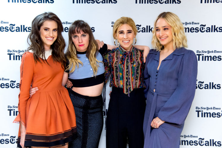 "The main cast of ""Girls"" at a New York Times Times Talks event. From left to right: Allison Williams, Lena Dunham, Zosia Mamet and Jemima Kirke. (Roy Rochlin/FilmMagic via Getty Images)"