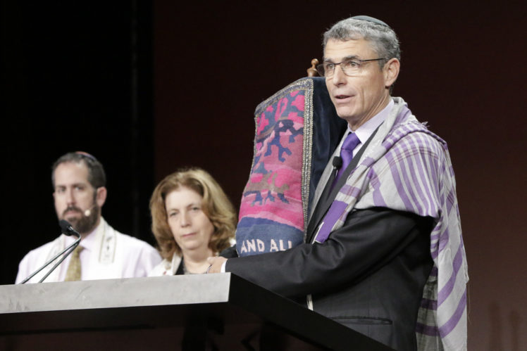 Rabbi Rick Jacobs, the Union for Reform Judaism president, speaks at the movement's biennial conference in Orlando, Fla., Nov. 7, 2015. (URJ)