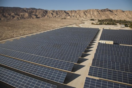 Arava Power Company's 4.9-megawatt field sits outside Kibbutz Ketura in Israel. (Courtesy of Arava)