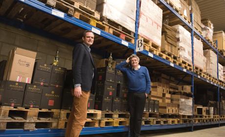 Pieter van Oordt, left, with his brother, Roger, at the Israel Products Center in Nijkerk, the Netherlands, Feb. 19, 2016. (Cnaan Liphshiz)