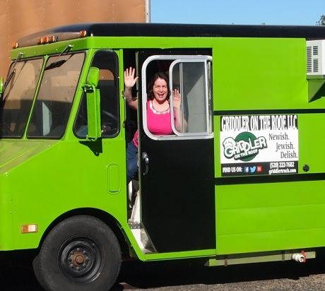 Tucsonan Kim Bayne in her Griddler on the Roof food truck