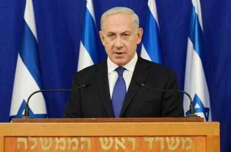 Israeli Prime Minister Benjamin Netanyahu responds to President Obama's address in New York, Sept. 24. (Kobi Gideon/ via Getty Images)