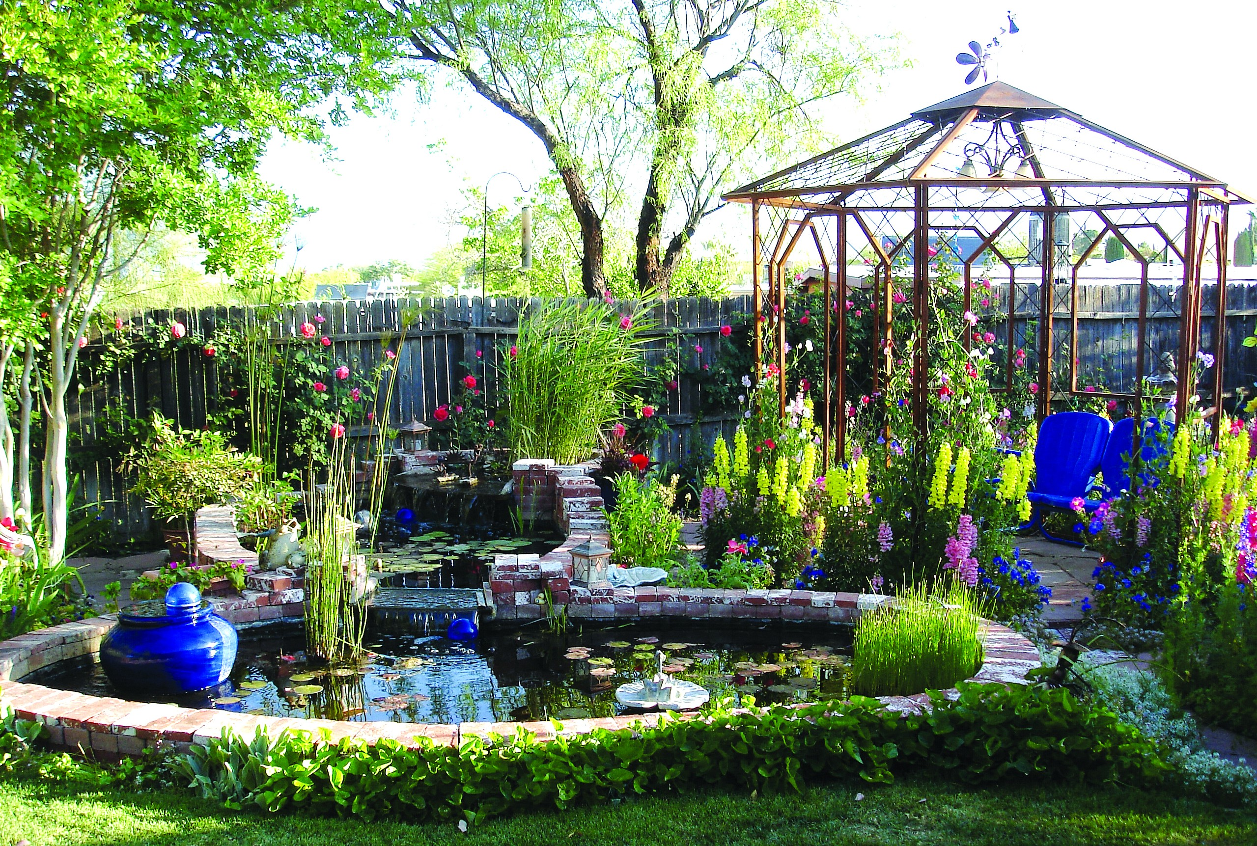 Add music and color to your backyard with watergardens ... on Dream House Backyard id=57979
