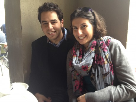 Ben Pozez and his wife, Amy, in New Orleans during the Jewish Federations of North America National Young Leadership Conference — TribeFest in March