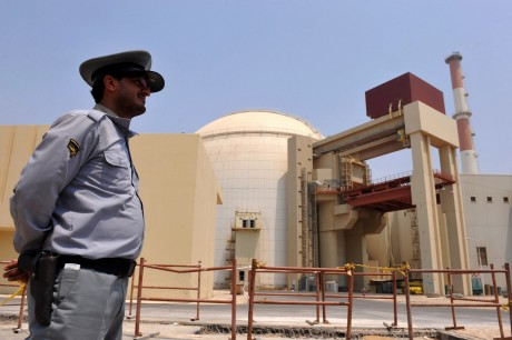 A view of the reactor at the Russian-built Bushehr nuclear power plant in southern Iran as the first fuel is loaded, Aug. 21, 2010. (Iran International Photo Agency via Getty Images)