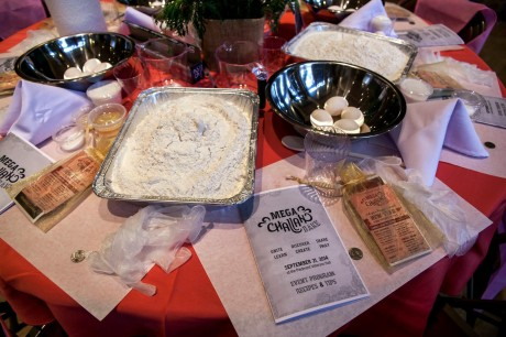 Ingredients are set out for a mega challah bake. (Courtesy Chabad Tucson)