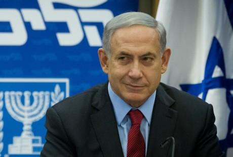 Israeli Prime Minister Benjamin Netanyahu leading a Likud faction meeting at the Knesset, Dec. 1, 2014. (Miriam Alster/Flash90)
